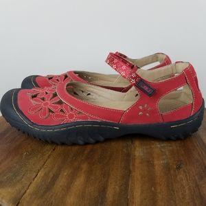 JBU Jambu Wildflower Clog Mary Jane Sandals 9.5